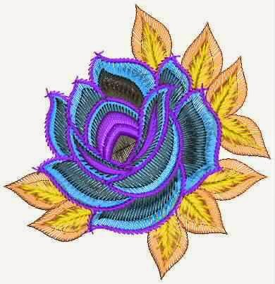 Rose blom Patch