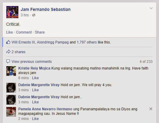 Jam Sebastian of Jamich critical