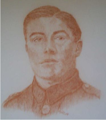 Portrait of Myles McGrane (1899-1918), Royal Irish Regiment