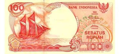 Gambar uang kertas Indonesia Rp 100 tahun 1992