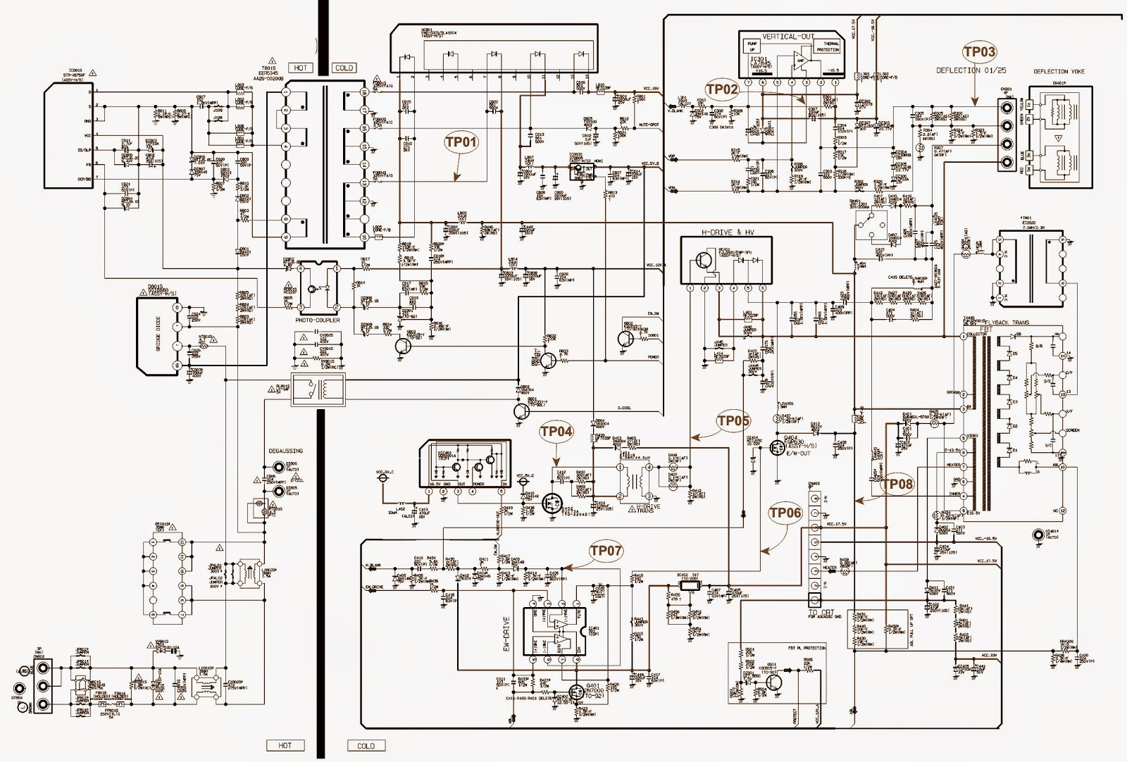 medium resolution of crt tv power diagram wiring diagram detailed red phosphorus crt television crt tv wiring diagram