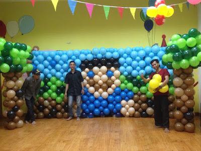 balon dinding tema minecraft