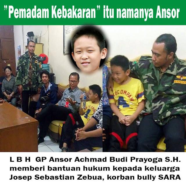 """GP Ansor Datangi Anak SD yang Disiksa dan Dibully """"Dasar Ahok"""" Oleh Temannya"""