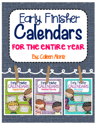 https://www.teacherspayteachers.com/Product/Early-Finisher-Calendar-Bundle-1968469