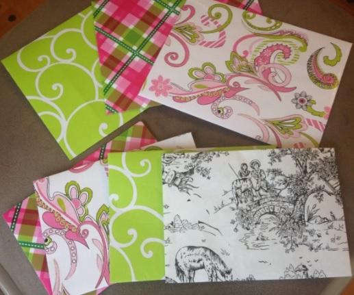 cómo hacer sobres con papel de regalo o papel decorado