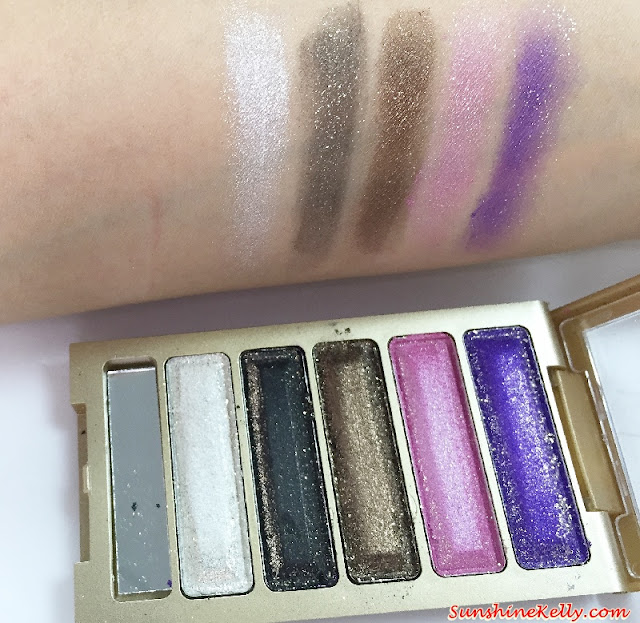 Dazzling Eye Shimmer Eyeshadow Palette Review, born pretty, eye shadow, color cosmetics