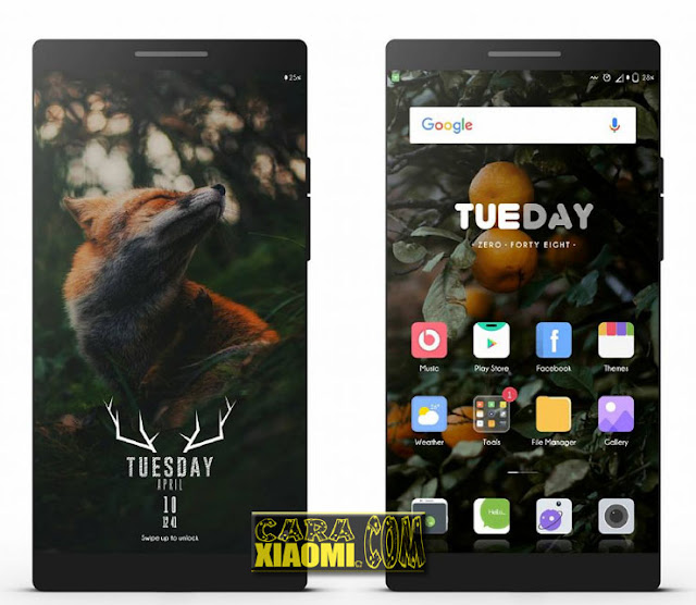 Thema MIUI Flox UI Light V3 Mtz For Xiaomi Redmi V8 and V9 Themes Terbaru