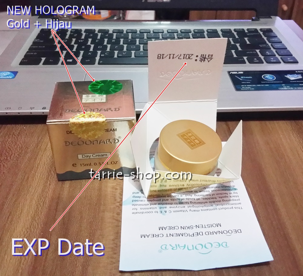 EXPDATE Cream Deoonard Silver Day Hologram Hijau