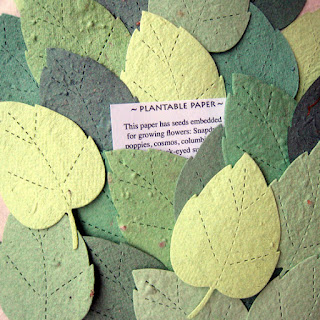 zero-waste wedding favor ideas plantable paper leaves