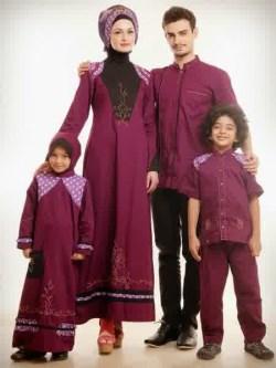 Model Baju lebaran keluarga yang sedang trend