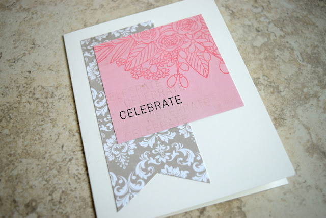 Celebrate Card by Jess Crafts using Simon Says Stamp June 2017 Card Kit Blissful
