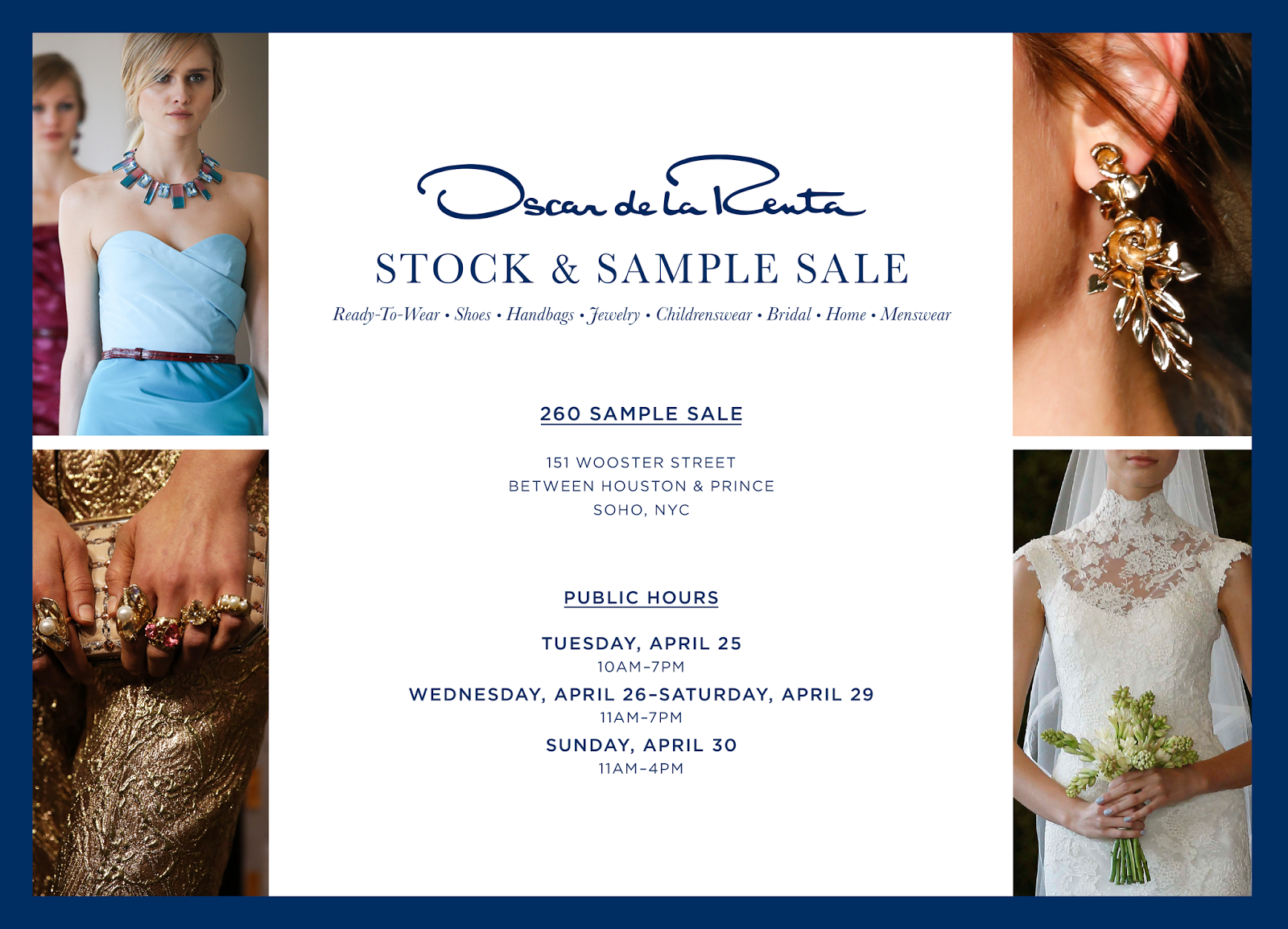 Fashionably Petite Oscar De La Renta Sample Sale 425 43017
