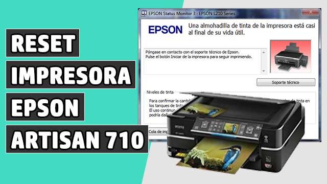 reset Almohadillas impresora EPSON Artisan 710