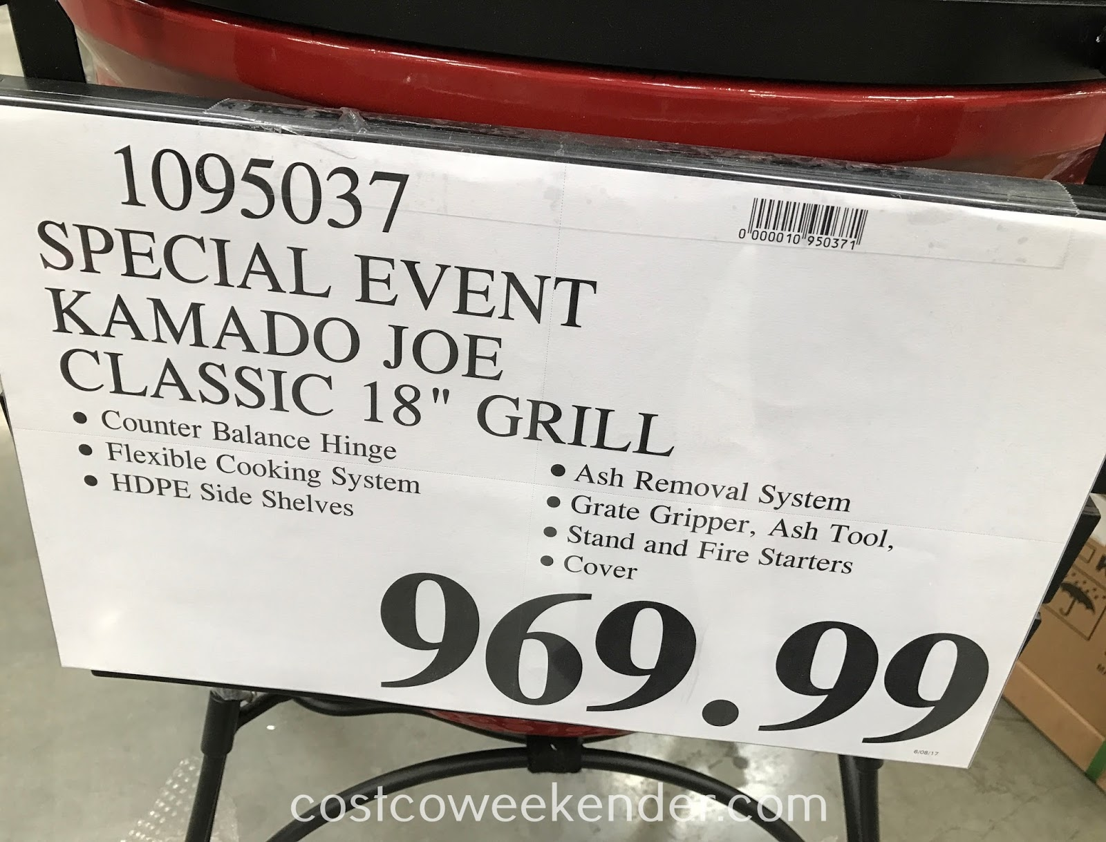 Costco 1095037 - Kamado Joe Classic 18in Grill: great for smoking brisket and ribs