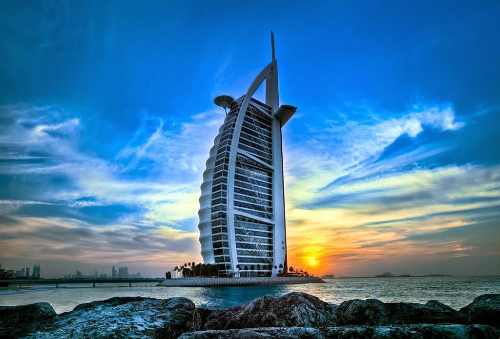 Burj Al Arab a seven star hotel.