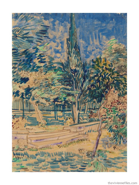 Stairs in the Garden of the Asylum by Vincent van Gogh
