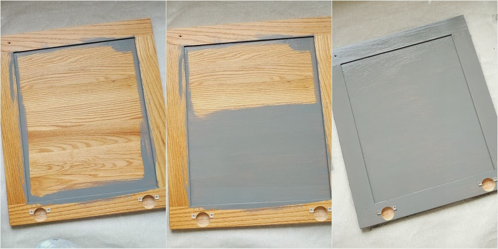 How to paint wood cabinet doors