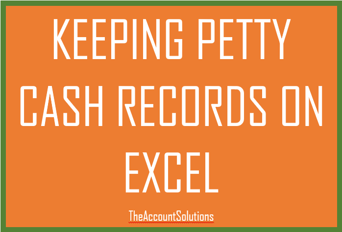 How To Analyze Petty Cash Transactions Using Excel