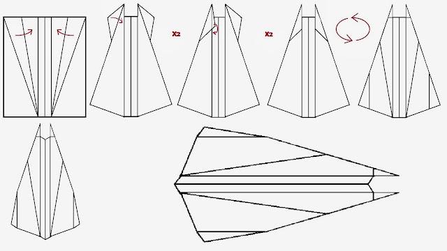 Avión de papel Wing 13