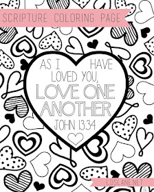 Love One Another coloring page by Latterday Lane