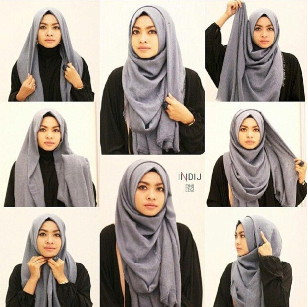 Cara Memakai Hijab Modern Style 2016