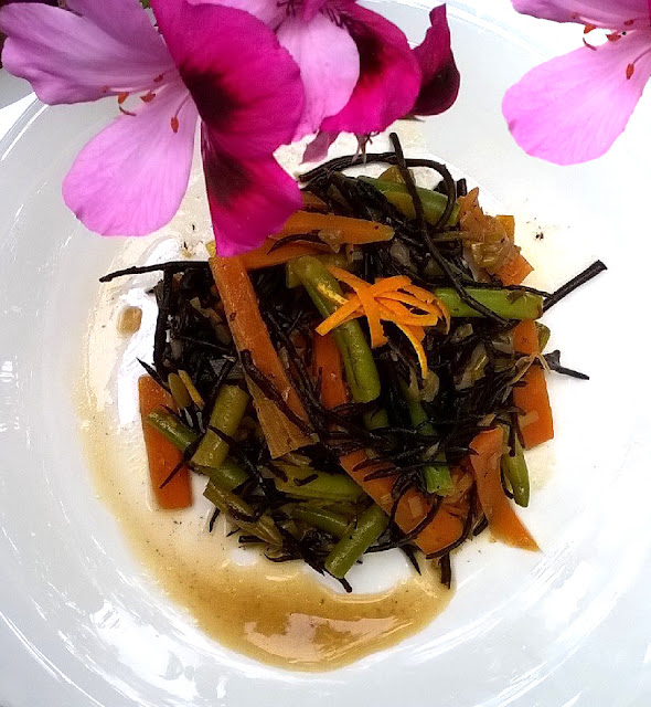 Estofado de verduras con algas hiziki