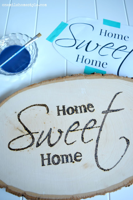 Home Sweet Home Wall Art DIY project - One Mile Home Style