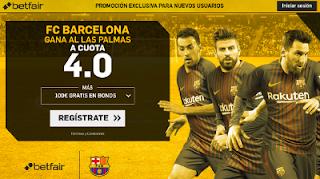 betfair supercuota Barcelona gana Las Palmas Liga 1 octubre