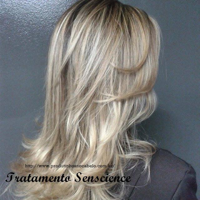 resultado no cabelo Senscience Inner Restore
