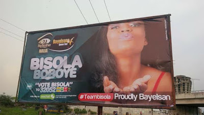 Image result for #BBNaija: Bayelsa Governor, Seriake Dickson Allegedly Campaigns For Bisola With A Billboard (Photo)