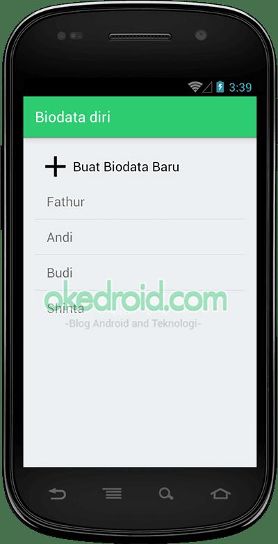 Cara Membuat Aplikasi Biodata Diri dengan Sqlite Android - Okedroid ...
