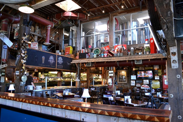 Welcome to a full blown tour of the inside of Mission Springs Brewing Company, a junk-filled pub and restaurant filled with antiques and salvage architecture you will not believe!