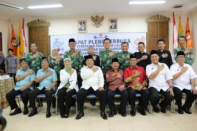 KPU Lampung Menetapkan Empat Pasangan Calon Gubernur dan Wakil Gubernur