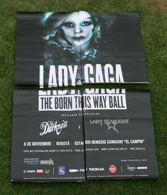 Image result for vintage lady gaga born this way tour poster