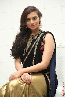 Priyanka Ramana in Beautiful Designer Black Saree At We Craft Elegance Expo Launch 003.JPG