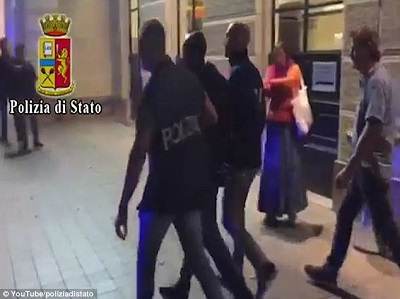 Police arrest Congolese national, three others for gang-raping Polish tourist on Italian beach in front of her badly beaten husband (Photos/Video)