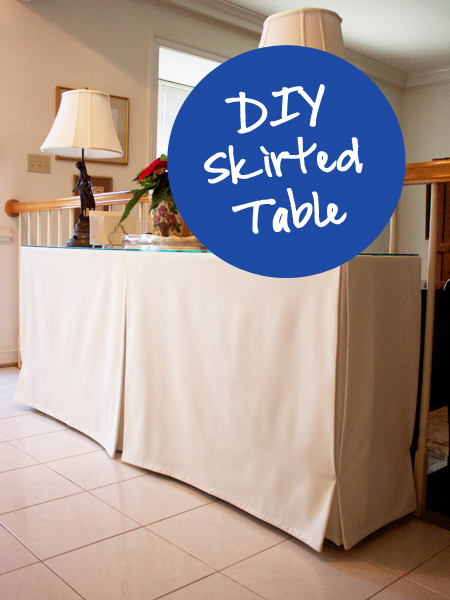 Very Fond Of Diy Skirted Entry Table