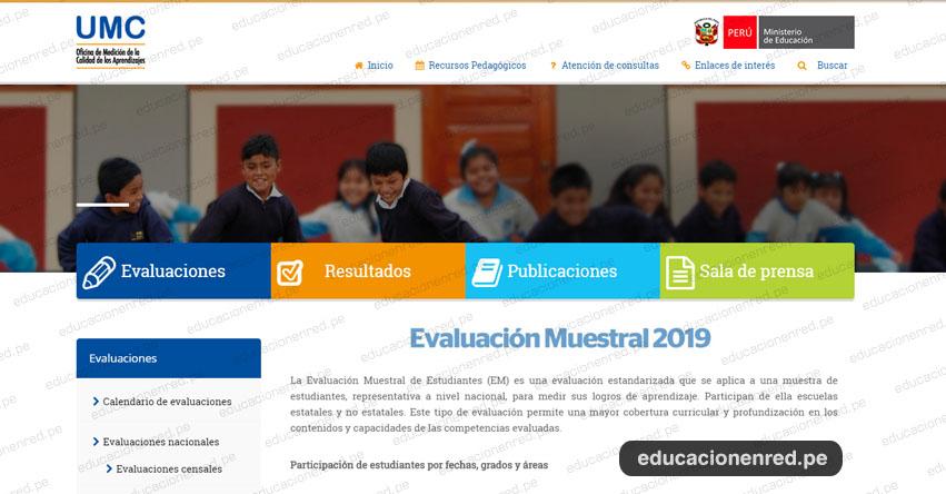 MINEDU: Evaluación Muestral de Estudiantes - EM 2019 (CRONOGRAMA) www.minedu.gob.pe