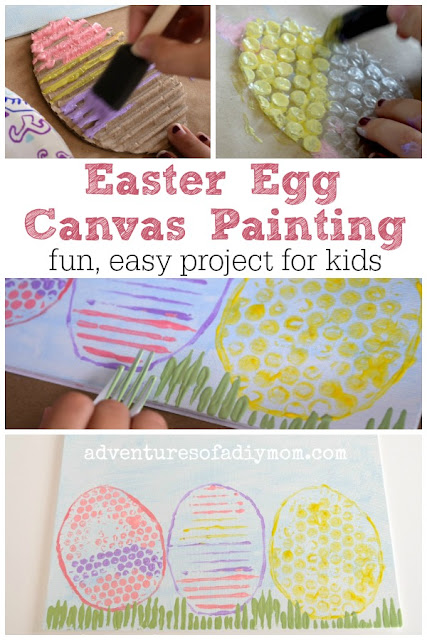 Easter Egg Canvas Painting - fun easy project for kids