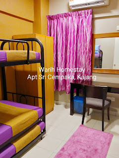 Warih-Homestay-Sri-Cempaka-Third-Bedroom-With-Aircond