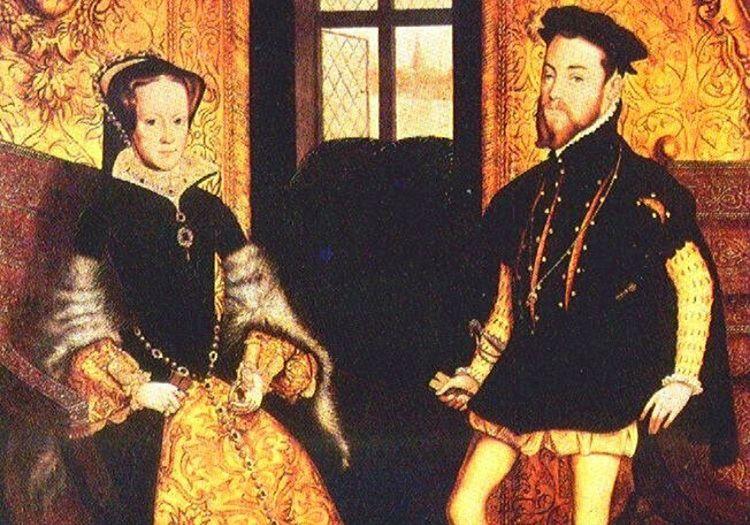 İspanya Prensi II. Philip ve Kraliçe Mary'nin beraber çizilmiş bir tablosu.