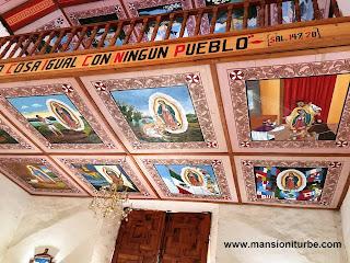 Interior of the Parish of San Diego de Alcala in Quiroga, Michoacan