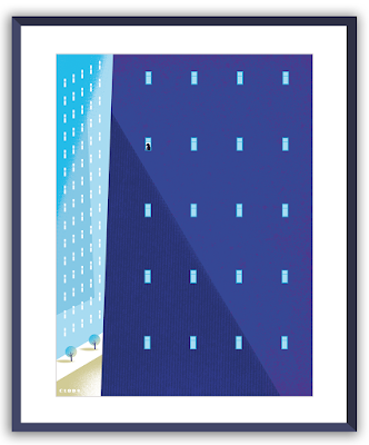 Clod illustration poster Seul à la fenêtre