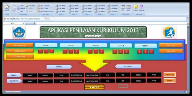 Aplikasi Penilaian Kurikulum 2013 Lengkap Jenjang Versi Terbaru