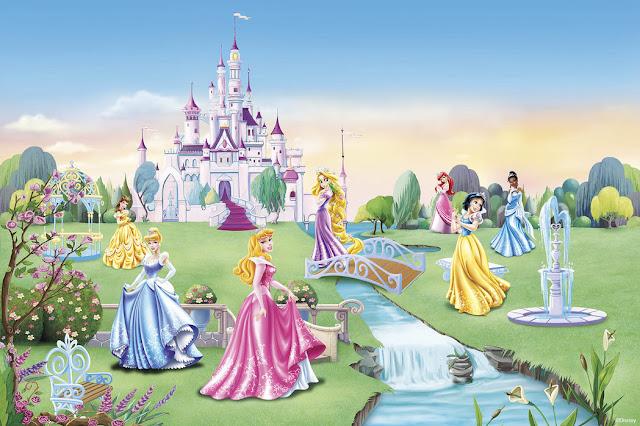 Lastenhuoneen tapetti prinsessa tapetti disney 3d lapsia tyttö