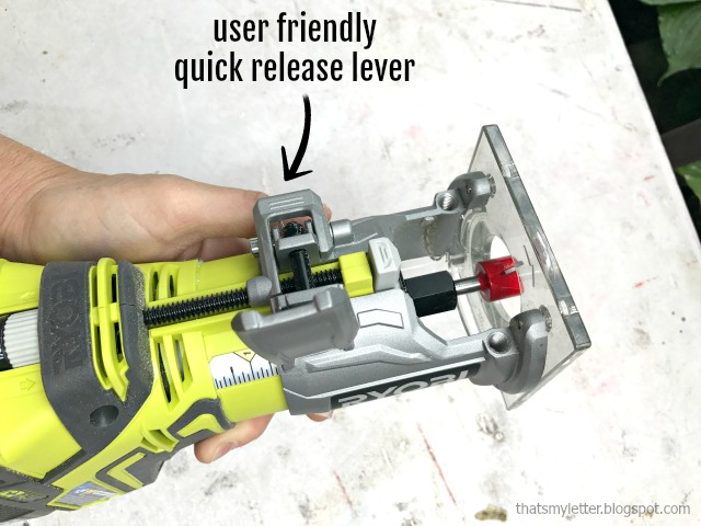 trim router quick release