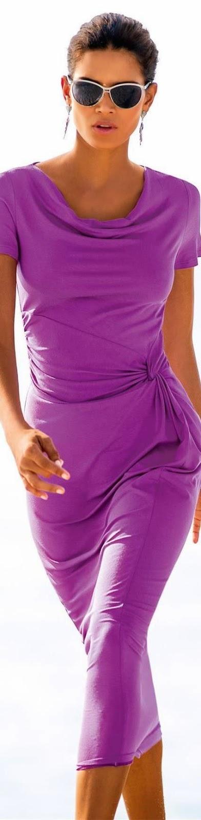 Madeleine Jersey Dress Violet