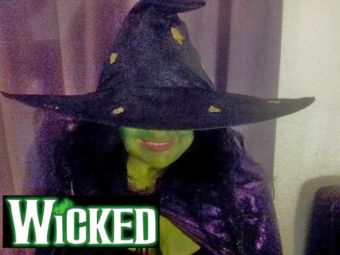 Halloween 2013 Party Wicked Witch Elthaba Costume Dress Up Green Face Paint