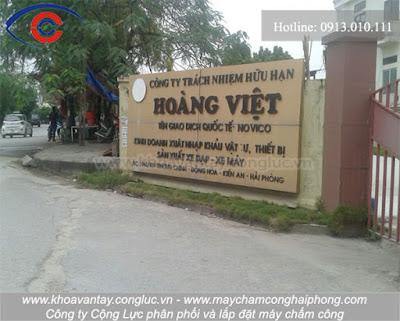 Lắp đặt máy chấm công tại KCN Đồng Hòa, Hải Phòng - Công ty Hoàng Việt.