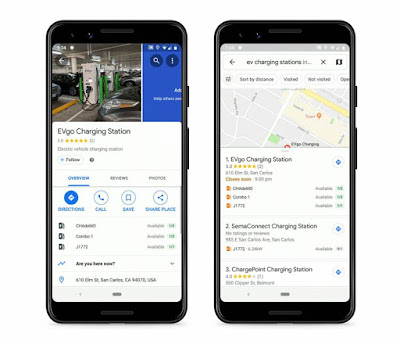 google, news, charger locations in the Google Maps app EV, Google Maps EV charger location, app, apps, cars, car, Google Maps for Android Auto,